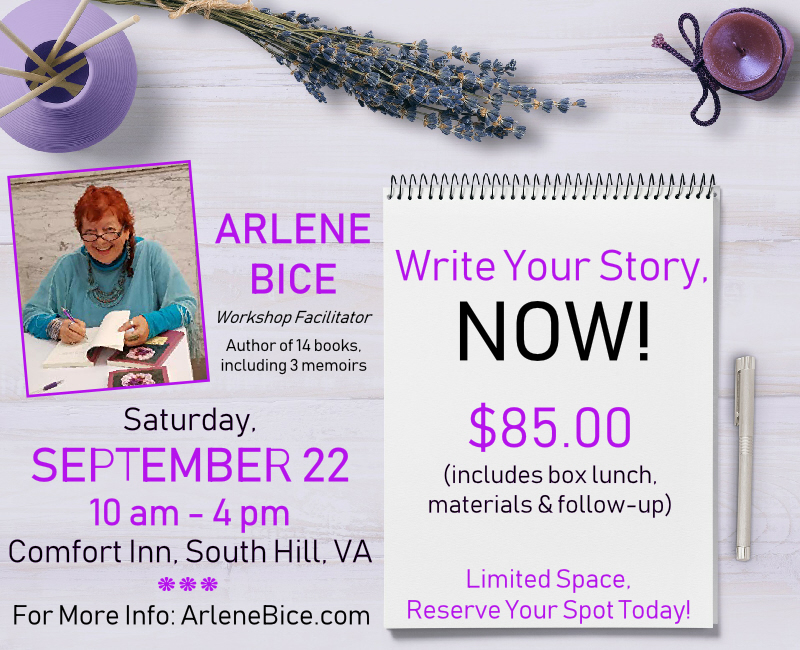 Arlene Bice Write Your Story Now September 2018